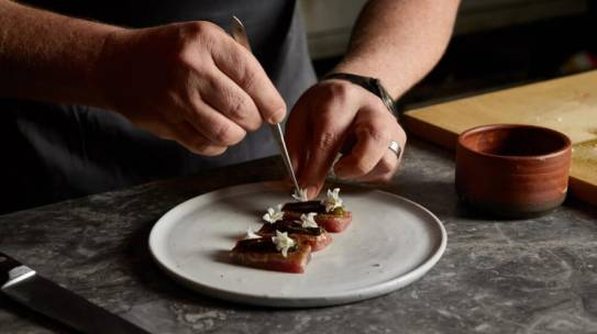Scott Pickett's Seafood Canapés